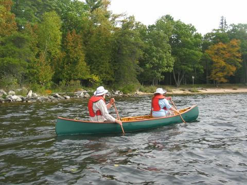 Canoeing on the Outaouais River